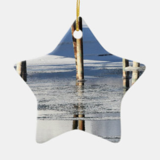 Bridge Reflection Ceramic Ornament