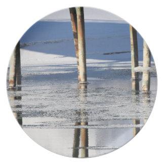 Bridge Reflection Dinner Plate