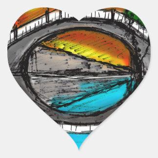 Bridge Reflection Marker #2 Colored Heart Sticker