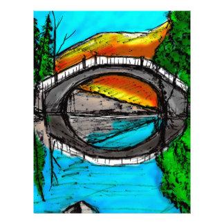 Bridge Reflection Marker #2 Colored Letterhead