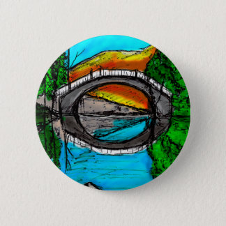 Bridge Reflection Marker #2 Colored Pinback Button