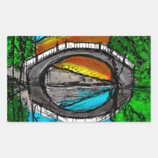 Bridge Reflection Marker #2 Colored Rectangular Sticker