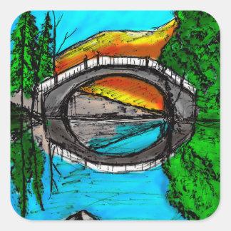 Bridge Reflection Marker #2 Colored Square Sticker