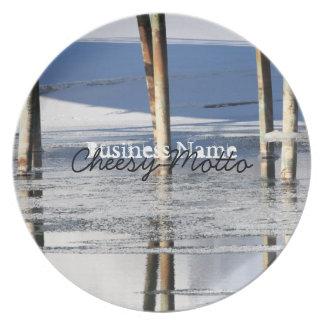 Bridge Reflection; Promotional Melamine Plate