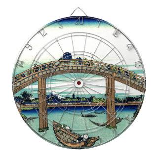 Bridge River Japan Shinto Boats Travel Landmark Dartboards