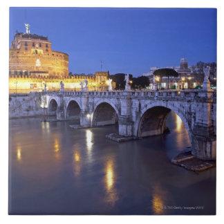 Bridge Sant Angelo and Castel Sant Angelo at Ceramic Tile