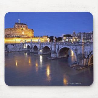 Bridge Sant Angelo and Castel Sant Angelo at Mouse Pad