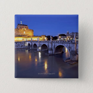 Bridge Sant Angelo and Castel Sant Angelo at Pinback Button
