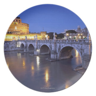 Bridge Sant Angelo and Castel Sant Angelo at Plate