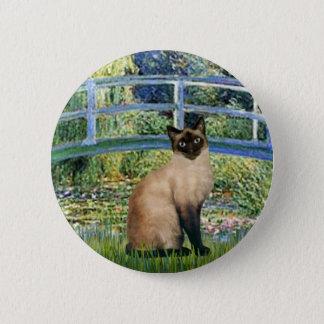 Bridge - Seal Point Siamese cat Pinback Button