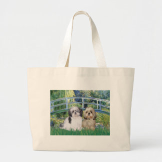 Bridge - Shih Tzu (two - A+Y) Large Tote Bag
