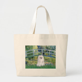 Bridge - Sih Tzu (white) Large Tote Bag