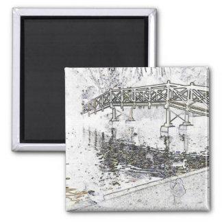Bridge Sketch Fridge Magnet