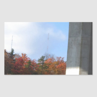 Bridge Skyview Geen Fall colors Template DIY fun Rectangular Sticker