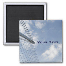 Bridge Spine And Cables Construction Art Magnet at Zazzle