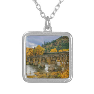Bridge Square Pendant Necklace