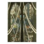 Bridge, Stella, Vintage New York City Architecture Personalized Invite