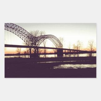 bridge rectangular sticker