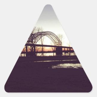 bridge triangle sticker