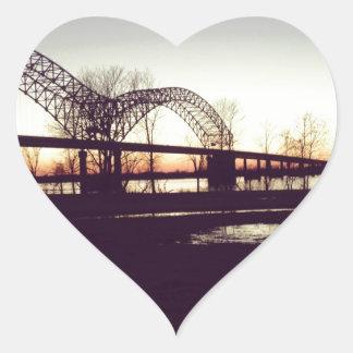 bridge heart stickers