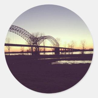 bridge round stickers