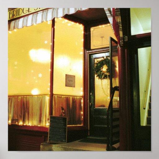 Bridge Street Café – Magic in the Night Print