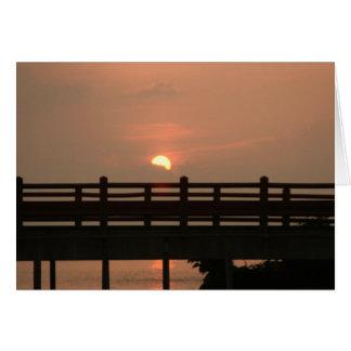 """bridge sunset"" by Larry Coressel Card"