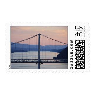 Bridge Sunset Postage Stamp