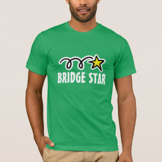 Bridge t-shirt with cool slogan and funny star