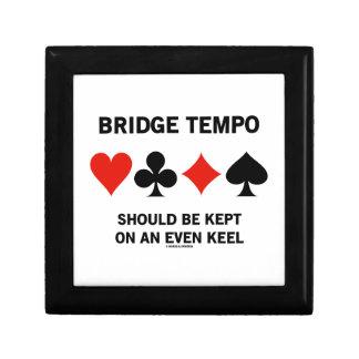 Bridge Tempo Should Be Kept On An Even Keel Keepsake Box