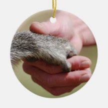 Bridge The Gap hands Double-Sided Ceramic Round Christmas Ornament