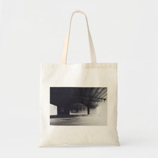 Bridge Themed, A Black And White Picture Under A B Budget Tote Bag