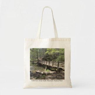 Bridge to Abrams Falls Cades Cove tote bag