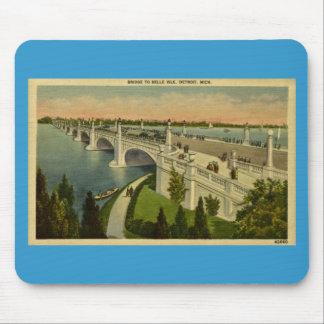 Bridge to Belle Isle Detroit, Michigan, Vintage Mouse Pad
