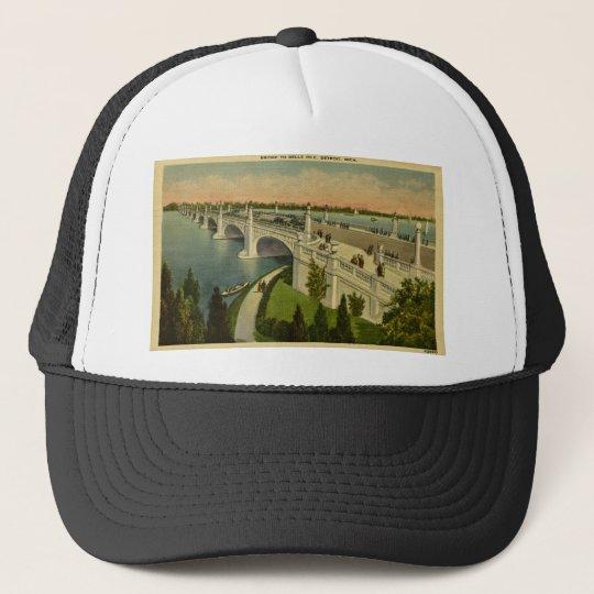 Bridge to Belle Isle Detroit, Michigan, Vintage Trucker Hat
