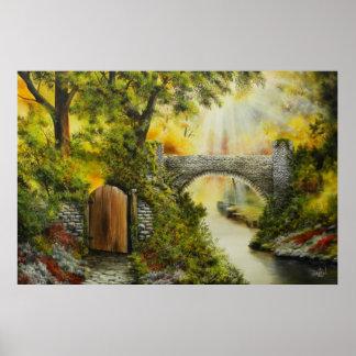 Bridge to cross over Print