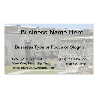 Bridge to St Augustine Fort across moat Double-Sided Standard Business Cards (Pack Of 100)