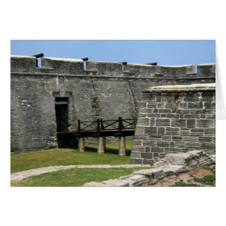 Bridge to St Augustine Fort across moat Greeting Card