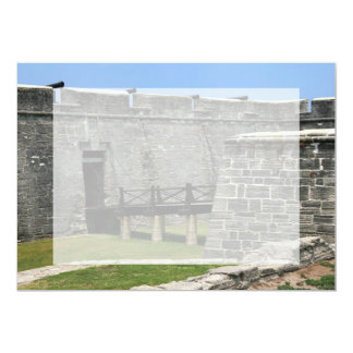 """Bridge to St Augustine Fort across moat 5"""" X 7"""" Invitation Card"""