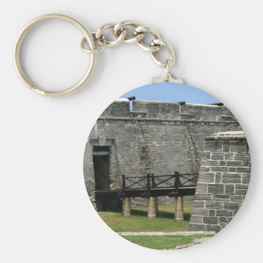 Bridge to St Augustine Fort across moat Key Chains