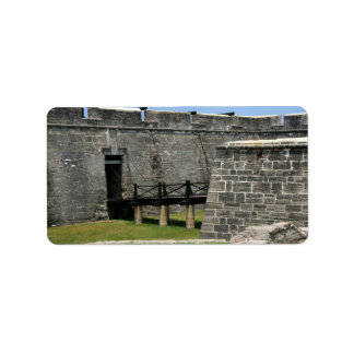 Bridge to St Augustine Fort across moat Personalized Address Labels