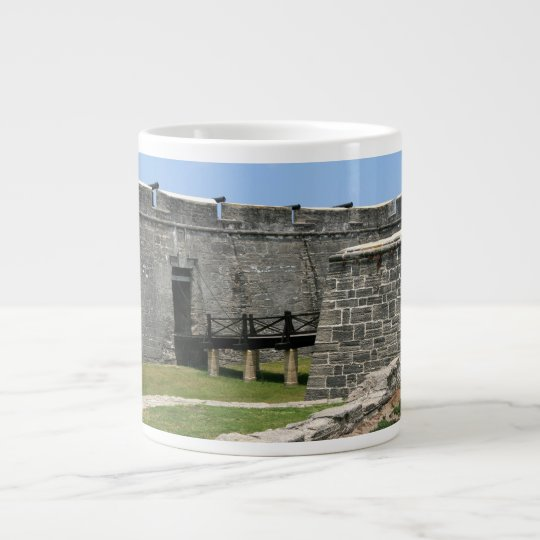 Bridge to St Augustine Fort across moat Large Coffee Mug