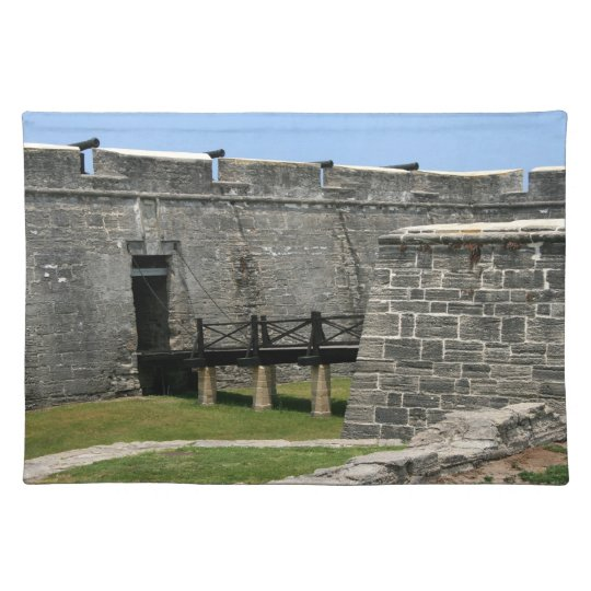 Bridge to St Augustine Fort across moat Placemat