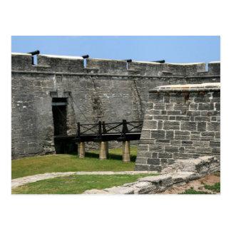 Bridge to St Augustine Fort across moat Postcards