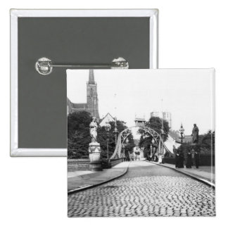 Bridge to the Cathedral, Breslau  Poland, c.1910 Button