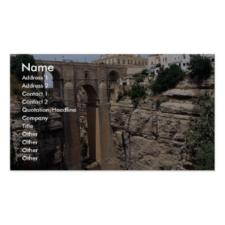 Bridge to the Old Quarter, Ronda, Spain Double-Sided Standard Business Cards (Pack Of 100)