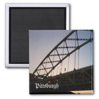 Bridge to Twilight 2 Inch Square Magnet
