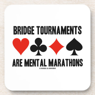 Bridge Tournaments Are Mental Marathons Card Suits Beverage Coaster