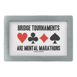 Bridge Tournaments Are Mental Marathons Card Suits Rectangular Belt Buckle