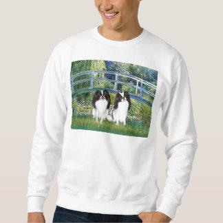 Bridge - Two Japanese Chins (2BW) Sweatshirt